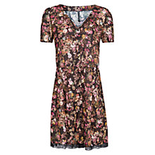 Buy Mango Floral  Lace Hem Dress, Black Online at johnlewis.com