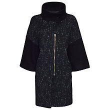 Buy James Lakeland Mix Fabric Zip Coat, Black Online at johnlewis.com