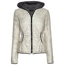 Buy James Lakeland Jersey Lined Puffer Jacket, Cream Online at johnlewis.com