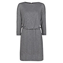 Buy Mango Elasticated Flecked Dress, Dark Grey Online at johnlewis.com