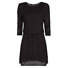 Buy Mango Elastic Waist Flecked Dress, Black Online at johnlewis.com