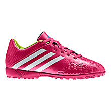 Buy Adidas Junior Predito Astro Turf Trainers, Vivid Berry/White Online at johnlewis.com