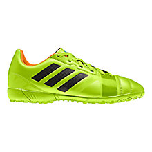 Buy Adidas Junior Nitrocharge Astro Turf Trainers, Green Online at johnlewis.com