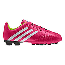 Buy Adidas Junior Predito TRX FG Football Boots, Vivid Berry/White Online at johnlewis.com