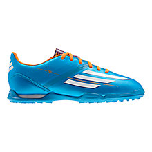Buy Adidas Junior F10 Astro Turf Trainers, Solar Blue/Running White Online at johnlewis.com