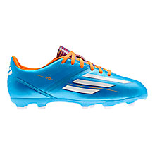 Buy Adidas Junior F10 TRX FG Football Boots, Solar Blue/Running White Online at johnlewis.com