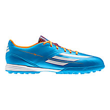Buy Adidas Men's F10 TRX Astro Turf Trainers, Solar Blue/Running White Online at johnlewis.com