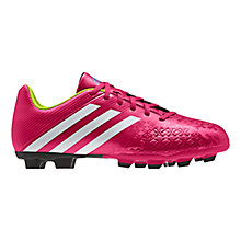 Buy Adidas Men's Predito TRX FG Football Boots, Vivid Berry/White Online at johnlewis.com