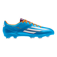 Buy Adidas Men's F10 TRX FG Football Boots, Solar Blue/Running White Online at johnlewis.com