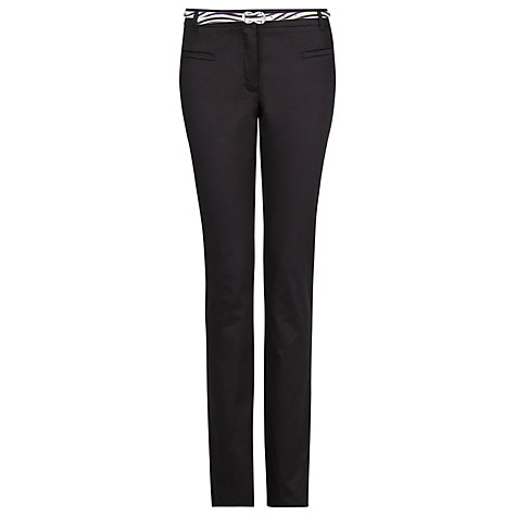 Buy Mango Slim Fit Cotton Trousers, Black Online at johnlewis.com