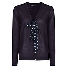 Buy Mango Printed Bow Cardigan Online at johnlewis.com