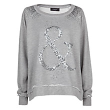 Buy Mango Sequin Sweatshirt, Light Pastel Grey Online at johnlewis.com