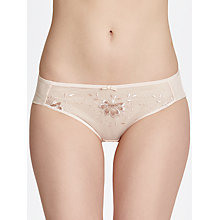 Buy John Lewis Colette Embroidered Briefs, Rose Gold Online at johnlewis.com