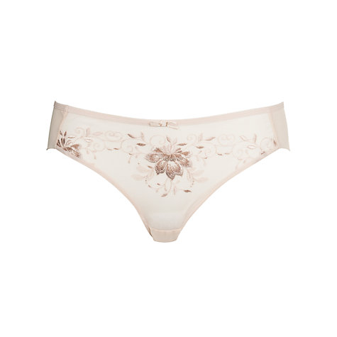 Buy COLLECTION by John Lewis Colette Embroidered Briefs, Rose Gold Online at johnlewis.com