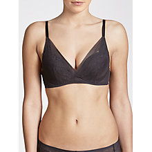 Buy John Lewis Eloise Underwired Padded Plunge Bra, Grey Online at johnlewis.com