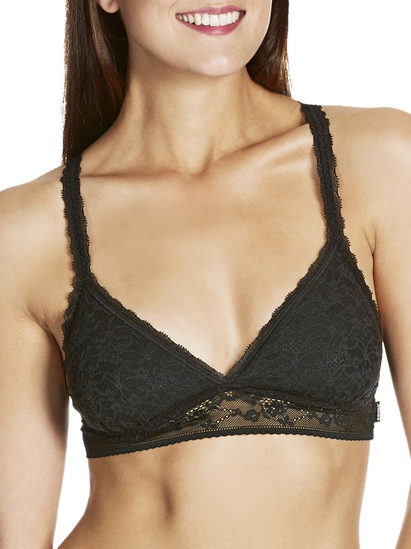 Bonds Lacies Racer Crop Bra, Black