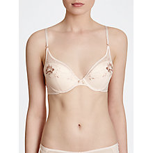 Buy John Lewis Colette Padded Underwired Half Cup Bra, Rose Gold Online at johnlewis.com