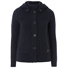 Buy White Stuff Blue Black Hooded Cardigan, Dark Atlantic Blue Online at johnlewis.com