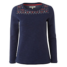Buy White Stuff Capri Tee, Dark Atlantic Blue Online at johnlewis.com