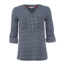 Buy White Stuff Ellon Top, Dark Atlantic Blue Online at johnlewis.com