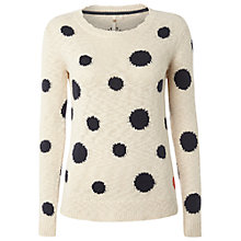 Buy White Stuff Jersey Dot Jumper, Jersey Cream Online at johnlewis.com
