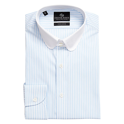 Buy Chester Barrie Savile Row Christopher Tab Collar Long Sleeve Shirt, Blue Online at johnlewis.com