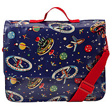Buy Cath Kidston Space Print School Satchel, Navy Online at johnlewis.com