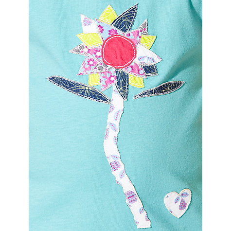 Buy Kids Company Girls' Flower Print T-Shirt, Blue Online at johnlewis.com