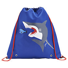 Buy Little Joule JNR Shark Active Bag, Blue Online at johnlewis.com
