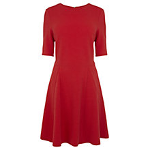 Buy Warehouse Textured Flippy Dress, Bright Red Online at johnlewis.com