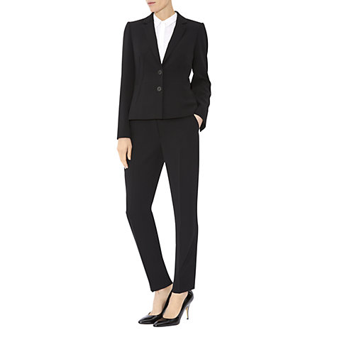 Buy Hobbs Sally Trousers, Black Online at johnlewis.com