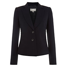 Buy Hobbs Saskia Jacket, Navy Online at johnlewis.com