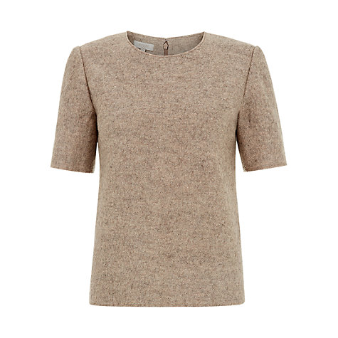 Buy Hobbs Mayflower Top, Oatmeal Online at johnlewis.com
