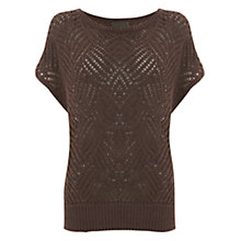 Buy Mint Velvet Stitch Detail Tabard, Mocha Online at johnlewis.com