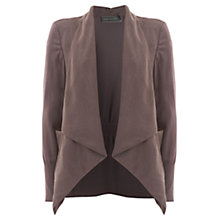 Buy Mint Velvet Waterfall Front Jacket, Mocha Online at johnlewis.com