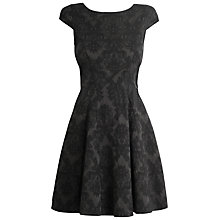 Buy Almari Jacquard Tie Back Dress, Black Online at johnlewis.com