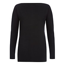 Buy Hobbs Suki Jumper, Black Online at johnlewis.com