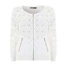 Buy Mint Velvet Brodrais Cardigan, Ivory Online at johnlewis.com