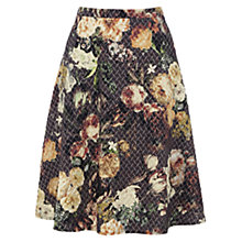 Buy Warehouse Floral Jacquard Midi Skirt, Multi Online at johnlewis.com