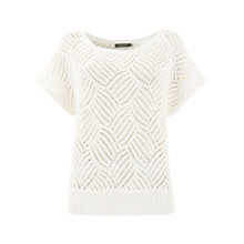 Buy Mint Velvet Stitch Detail Tabard Jumper, Ivory Online at johnlewis.com