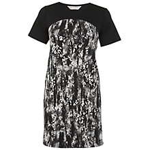Buy Miss Selfridge Monochrome Animal Dress, Black Online at johnlewis.com