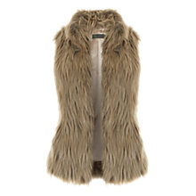 Buy Mint Velvet Faux Fur Gilet, Neutral Online at johnlewis.com
