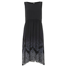 Buy Mint Velvet Megan Print Trapeze Dress, Navy Online at johnlewis.com
