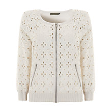 Buy Mint Velvet Broderie Cardigan Online at johnlewis.com