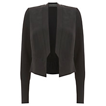 Buy Mint Velvet Cropped Tux Jacket, Black Online at johnlewis.com