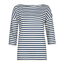 Buy Hobbs Songlines Stripe Top, Ivory Multi Online at johnlewis.com