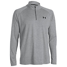 Buy Under Armour Tech Half Zip Long Sleeve Top, Grey Online at johnlewis.com