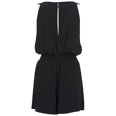 Buy Miss Selfridge Halter Playsuit, Black Online at johnlewis.com