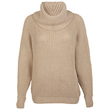 Buy Miss Selfridge Fisherman Ribbed Stitch Jumper, Gold Colour Online at johnlewis.com