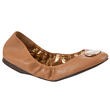 Buy Lauren by Ralph Lauren Brittany Logo Badge Ballerina Pumps Online at johnlewis.com